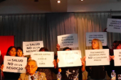 """Argentina: Protesta contra Gilead por precios extorsivos y buscar una """"patente ilegítima"""" para su fármaco contra la hepatitis C"""