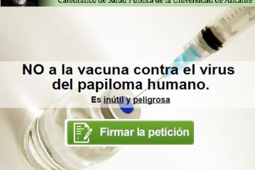 NO a la vacuna contra el virus  del papiloma humano. Es inútil y peligrosa