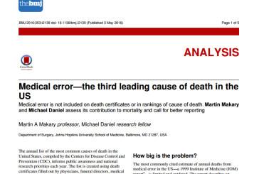 El sistema sanitario como causa de mortalidad