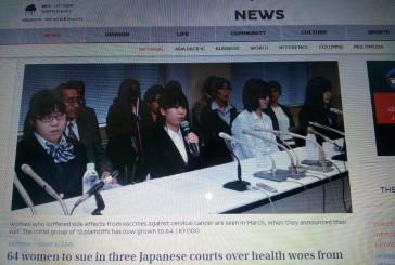 64 víctimas de las vacunas del papiloma demandan a gobierno y fabricantes en Japón