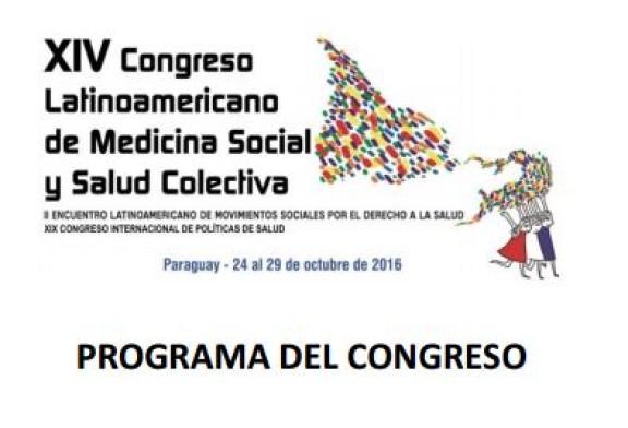 Programa – XIV Congreso de Medicina Social y Salud Colectiva