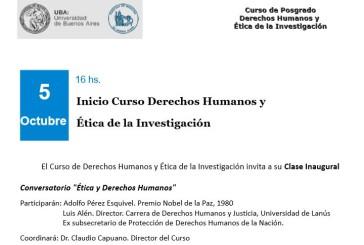 Inicio Curso Derechos Humanos y Ética de la Investigación