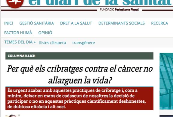 ¿Por qué la prevención del cáncer mediante pruebas de cribado no alarga la vida? (Por Antonio Sitges-Serra)
