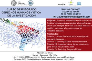 Curso de Posgrado Derechos Humanos y Ética de la Investigación