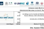 JORNADA SOBRE BIOÉTICA UNIVERSIDAD NACIONAL DE JOSÉ C. PAZ