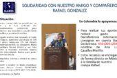 Solidaridad con nuestro amigo y compañero Rafael Gonzalez