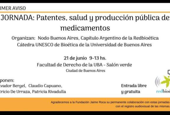 JORNADA: Patentes, salud y producción pública de medicamentos