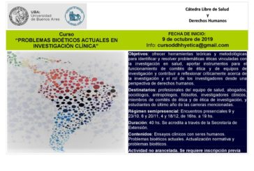 Curso «Problemas Bioéticos Actuales en Investigación Clínica»