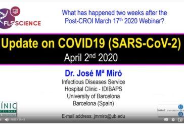 Actualización sobre la situación de la COVID-19 | Dr. Josep Maria Miró – 03/abril/2020″ en YouTube