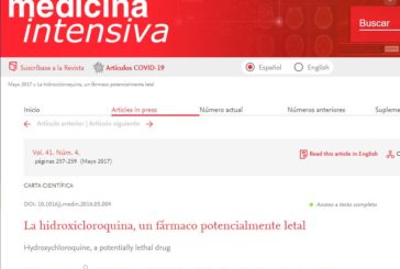 La hidroxicloroquina, un fármaco potencialmente letal