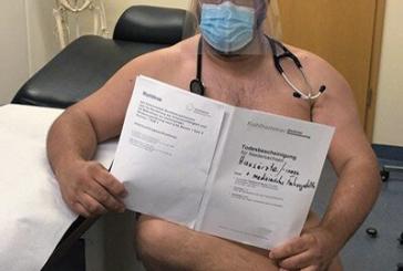 Médicos alemanes protestan desnudos por desabasto de equipo de protección personal