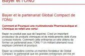 Bayer y la alianza del Pacto Mundial de las Naciones Unidas