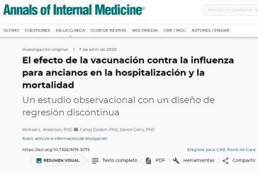 El efecto de la vacunación contra la influenza para ancianos en la hospitalización y la mortalidad