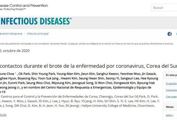 Seguimiento de contactos durante el brote de la enfermedad por coronavirus, Corea del Sur, 2020