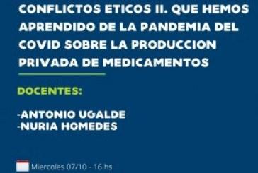 Conflictos Éticos II. ¿Qué hemos aprendido de la pandemia de covid sobre la producción privada de medicamentos